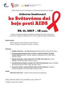 Pozvánka k tiskové konferenci ke Světovému dni boje proti AIDS